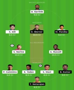 KKR-vs-SRH-Dream-11-team